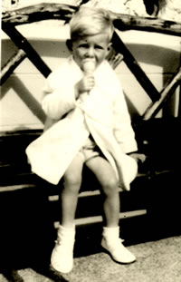 Picture of me as a child - including early evidence of my addiction to ice cream!